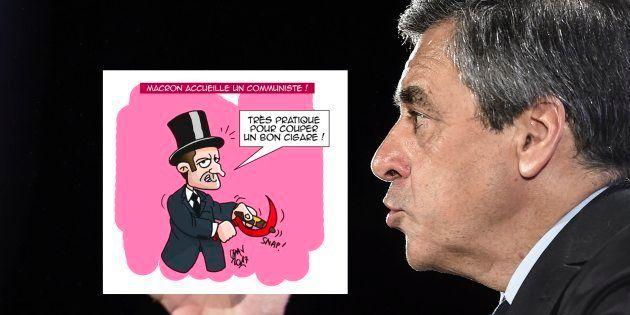 Caricature de Macron: Fillon dénonce un dessin antisémite et réclame des sanctions