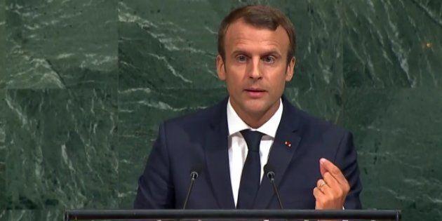 A l'Onu, Macron promet une initiative
