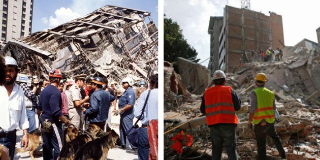 Des images des séismes à Mexico en 1985 et