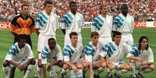 L'OM avant la finale de la Ligue des champions contre le Milan AC à Munich le 26 mai
