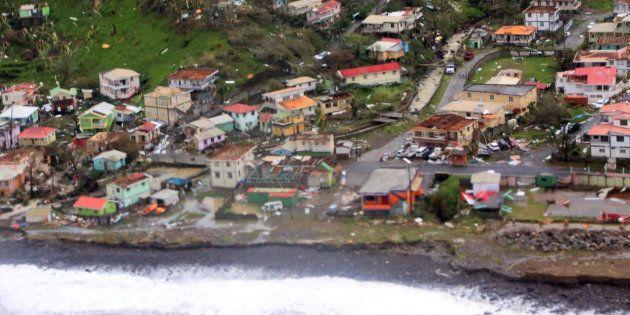 Les dommages causés par l'ouragan Maria en Dominique le 19 septembre