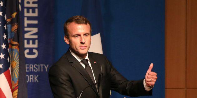 Emmanuel Macron à New York le 20 septembre