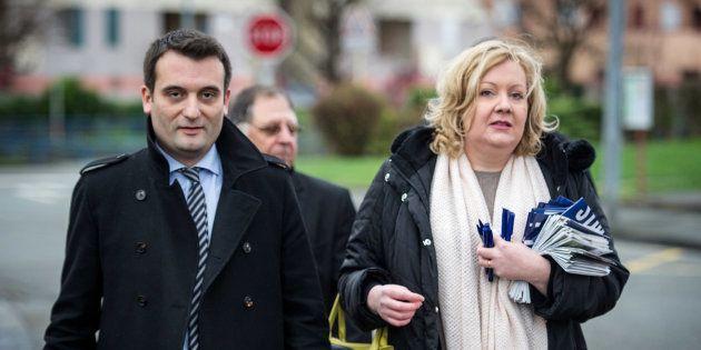 Sophie Montel et Florian Philippot en campagne en décembre