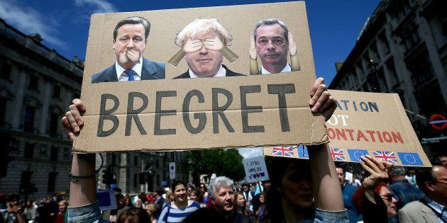 Une manifestation contre le Brexit en juillet à Londres. REUTERS/Neil