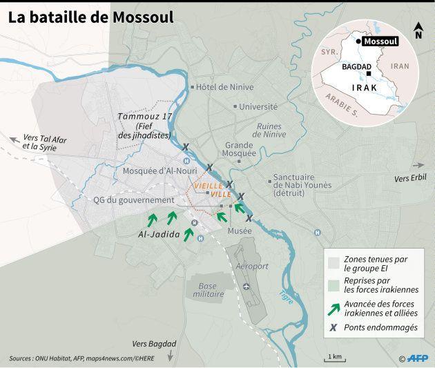 Les jihadistes acculés dans la partie ouest de