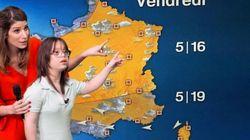 Mélanie Segard, atteinte de trisomie 21, présente la météo ce mardi sur France