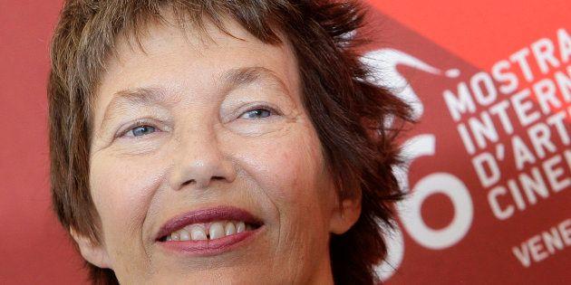 L'actrice britannique Jane Birkin pose pour sur le tapis de la 66ème édition du festival de Venise, le...