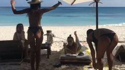 Pour fêter ses vacances, Emily Ratajkowski danse seins nus devant ses