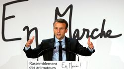 Emmanuel Macron, la candidature à marche