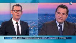 Poisson quitte le plateau de France 3 en pleine