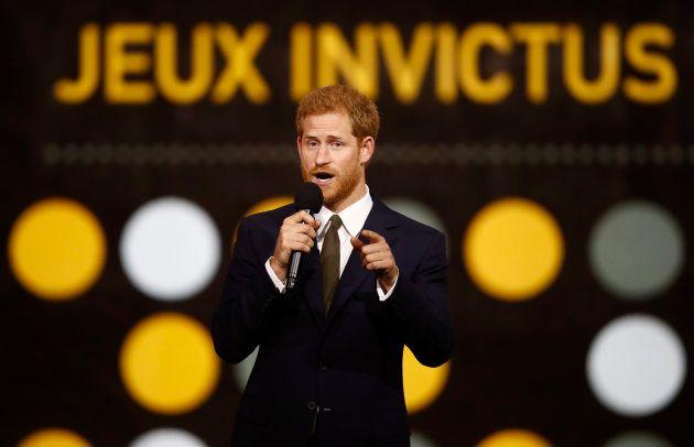 Le prince Harry lors de la cérémonie d'ouverture des Invictus Games de Toronto, le 23