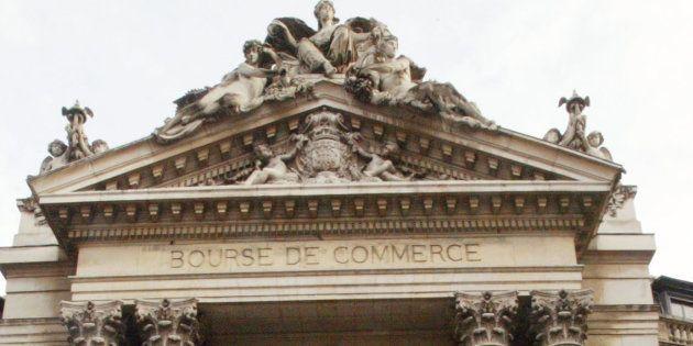 La Bourse de commerce à Paris, siège de la Chambre de commerce et d'industrie, en 2004. AFP PHOTO MEHDI...