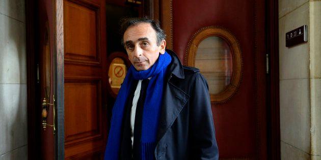 Eric Zemmour à Paris le 6 novembre