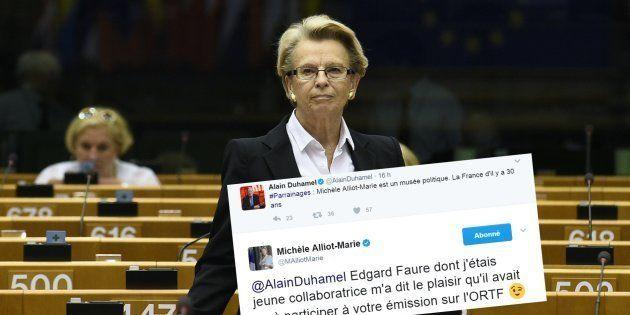 MAM a fait la réponse parfaite à Alain Duhamel qui l'attaquait sur son