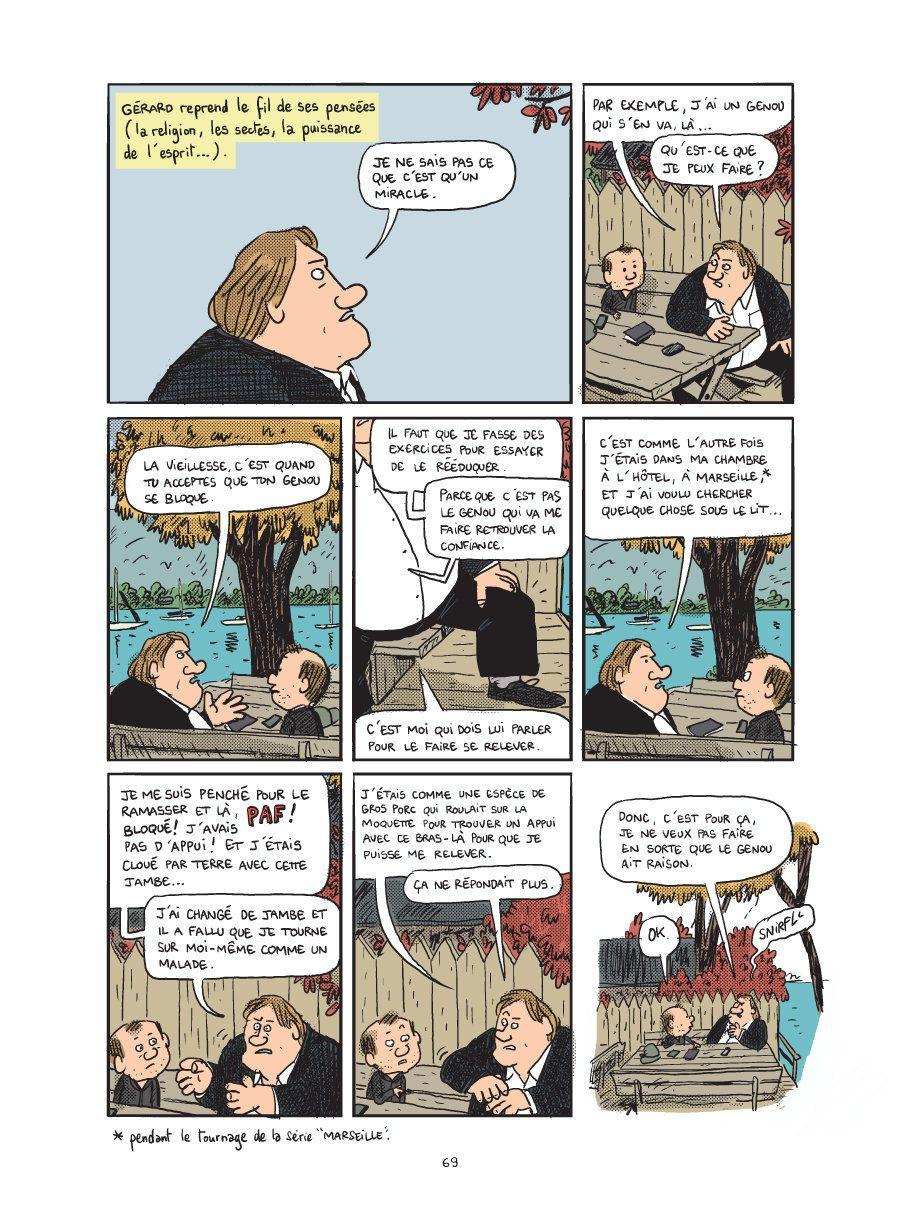 EXCLUSIF - L'anecdote improbable entre Gérard Depardieu et Vladimir Poutine racontée en BD par Mathieu