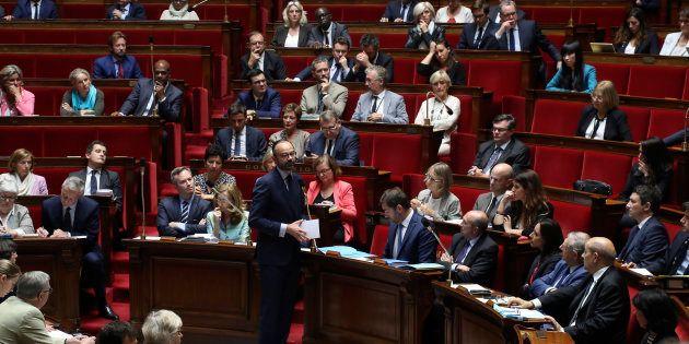 Le Premier ministre Édouard Philippe s'exprime à l'Assemblée nationale le 9