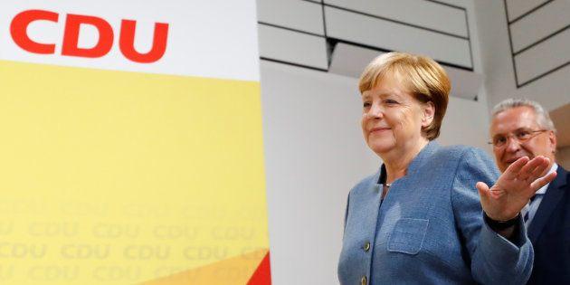 Angela Merkel après sa victoire aux législatives, le 24
