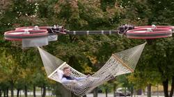 Un hamac porté par des drones, le cadeau trop beau pour être