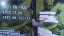 Des affiches de prévention pour les gays vandalisées par des homophobes (et Christine Boutin