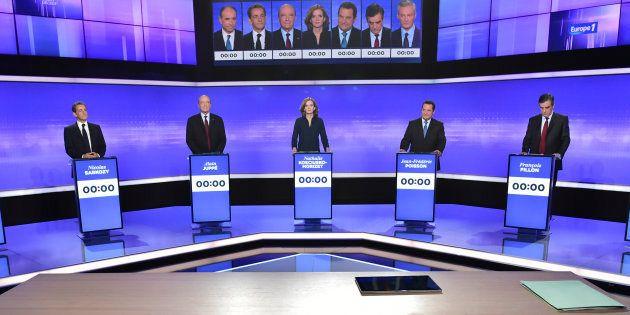 Candidats primaire de la droite lors du débat du 17 novembre 2016