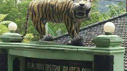 Cette statue est devenue la risée des internautes (et elle a été détruite à cause de