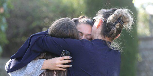 Les accès au lycée Tocqueville de Grasse avaient été complètement bloqués jeudi 16 mars, après la fusillade...