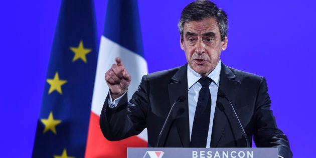 François Fillon lors de son meeting à