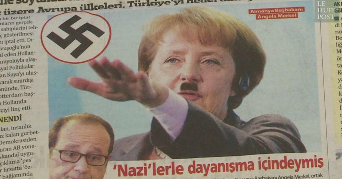 Ce journal turc a osé publier un photomontage de Merkel en Hitler ...