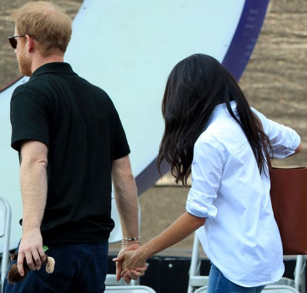 Prince Harry and Meghan Markle attend a Wheelchair Tennis match at the 2017 Invictus Games in Toronto,