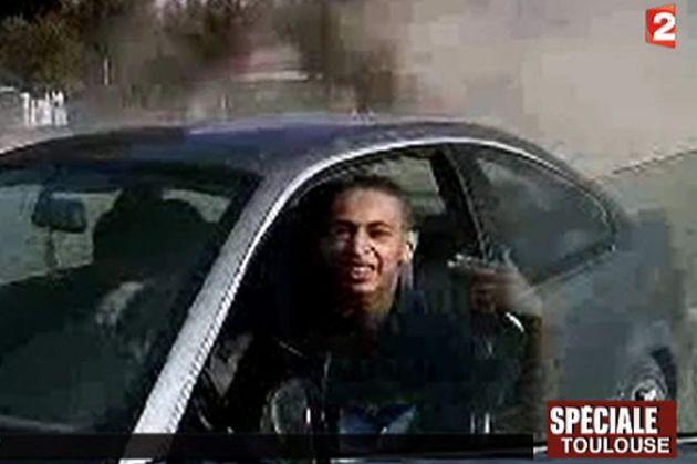 Capture d'écran d'une vidéo de Mohamed Merah diffusée sur France 2 le 21 mars