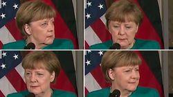 Ce regard d'Angela Merkel exprime toute la détresse des politiques face à Donald