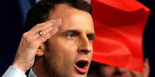 Emmanuel Macron en meeting à Reims vendredi 17