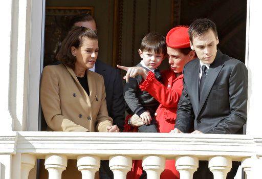 Stéphanie de Monaco, Charlotte Casiraghi, son fils Raphaël et Louis Ducruet, le 19 novembre