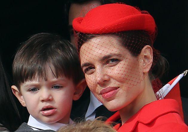 Charlotte Casiraghi et son fils Raphaël, le 19 novembre