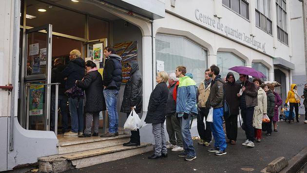 A Montreuil, les responsables de ce bureau de vote étaient impressionnés par l'importante