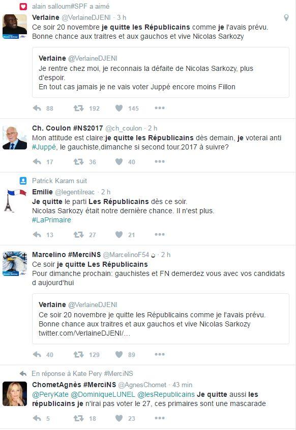 Dépités du résultat de la primaire de la droite, des fans de Nicolas Sarkozy déchirent leur carte des