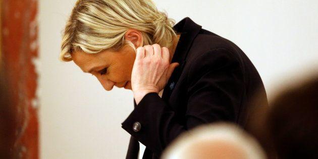 Marine Le Pen à Paris le 13 mars