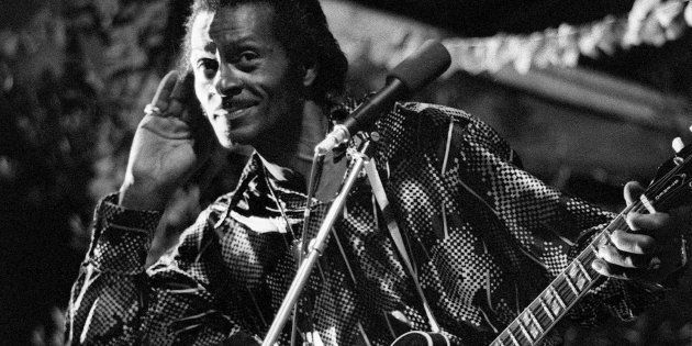 Chuck Berry lors d'une performance à Nice durant