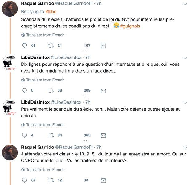 Raquel Garrido s'est félicitée chez Ardisson du succès de la manif de Mélenchon... avant qu'elle n'ait