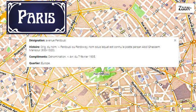 Découvrez l'origine du nom des rues de Paris grâce à une carte