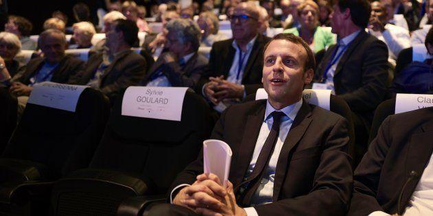 Emmanuel Macron à Lyon, au musée des Confluences, le 24 septembre
