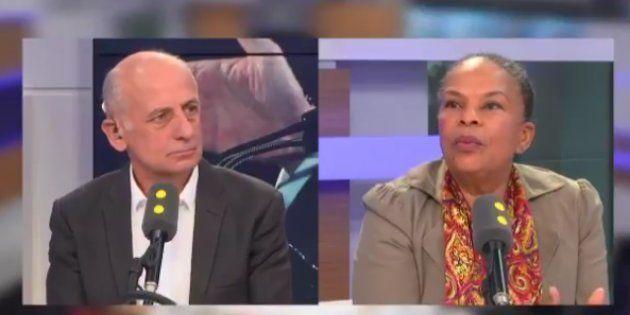 Christiane Taubira était l'invitée de France Info lundi 20