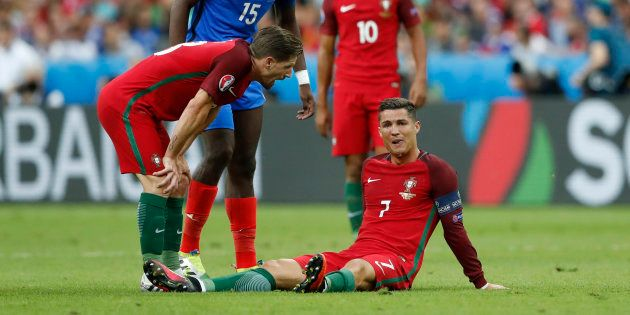 Cristiano Ronaldo lors de la finale de l'Euro France-Portugal le 10 juillet