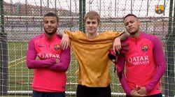 Justin Bieber a joué au foot avec Neymar (et il se débrouille pas