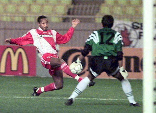 Thierry Henry lors de Monaco-Sporting Portugal le 26 novembre