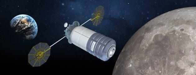 Un module d'habitation imaginé par la société Orbital ATK, dans le cadre du projet NextSTEP de la