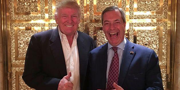 Donald Trump voit bien Nigel Farage - ici le 12 novembre à New York - en ambassadeur britannique aux