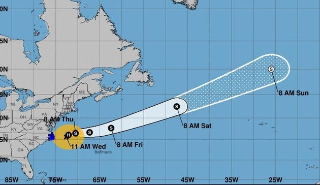 Affaiblis, les ouragans Maria et Lee se dirigent vers
