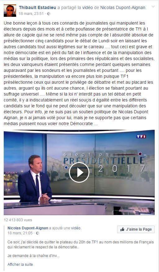 Altercation avec Dupont-Aignan: Audrey Crespo-Mara de TF1 porte plainte après s'être fait insulter par...