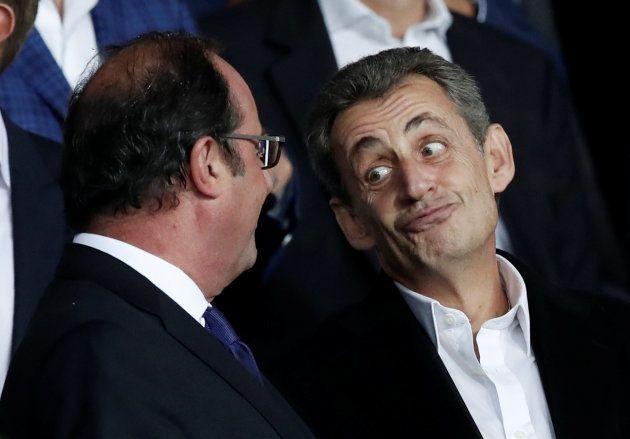 Hollande et Sarkozy photographiés ensemble lors de PSG-Bayern